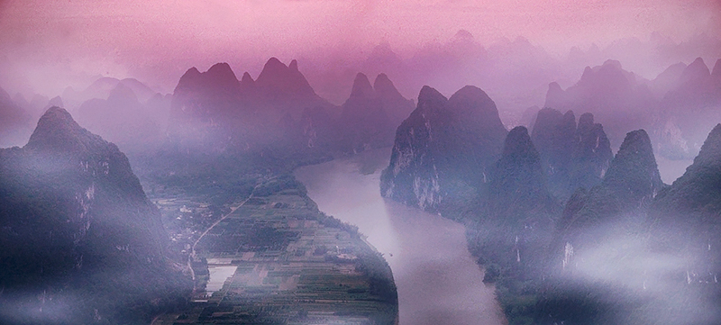 Li River from Xianggong Mountain