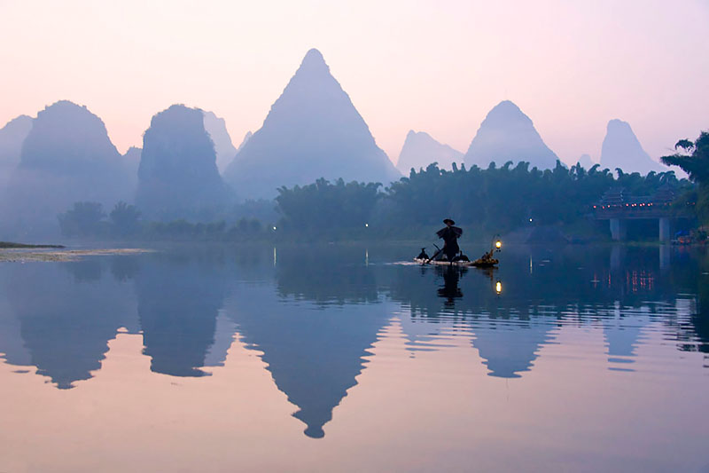 Li River from Yangshuo Bridge