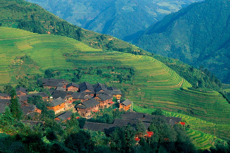 Zhuang Village in Longji Terraces