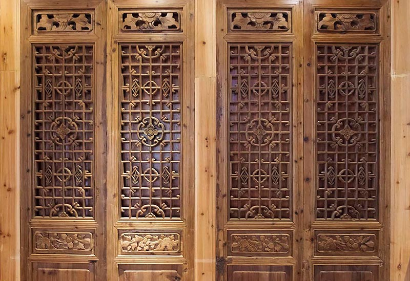 Double Sided Carved Screen Door