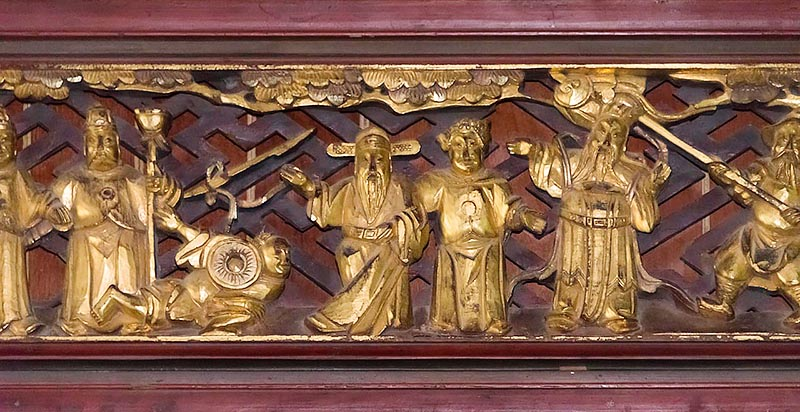 Gilded Wood Carving Panel on Bar