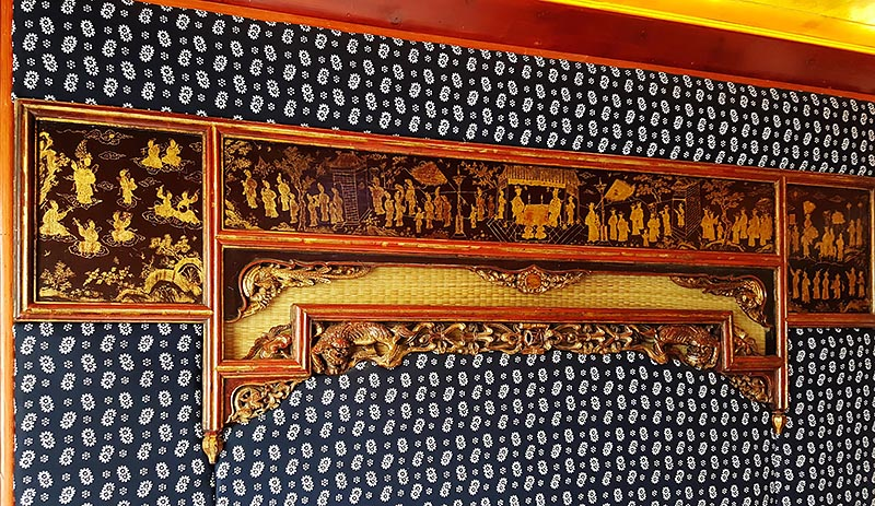 Gilded Carved Lacquer Bed Frame